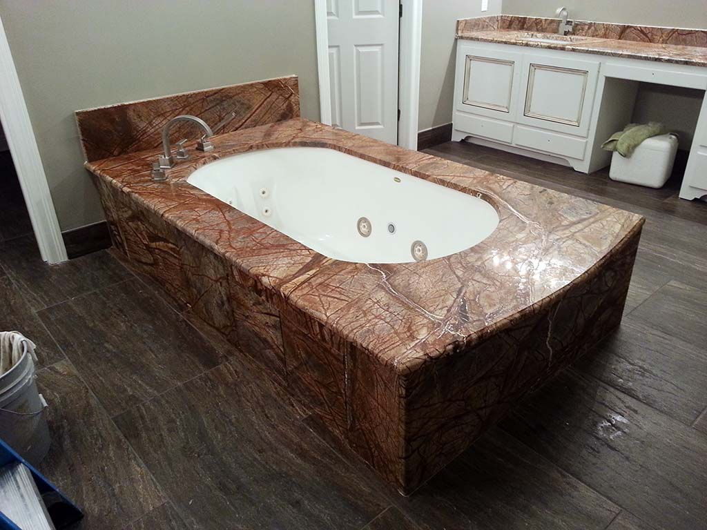 Cafe Rainforest Marble Tub Surround