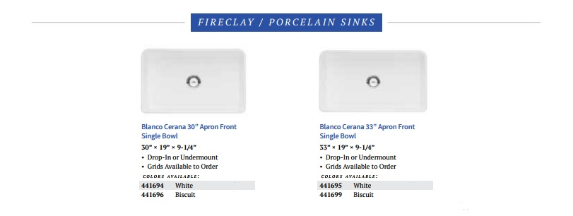 BLANCO Cerano Fireclay Porcelain Kitchen Sinks Intro