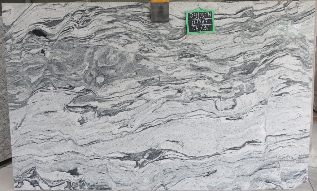 Exotic Granite (Gneiss) called Viscon White, Viscount White, Silver Cloud, or Salone