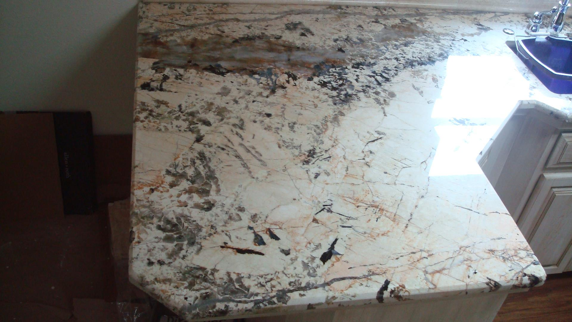 3cm Centaurus Premium Exotic Granite with Standard Bevel Edge