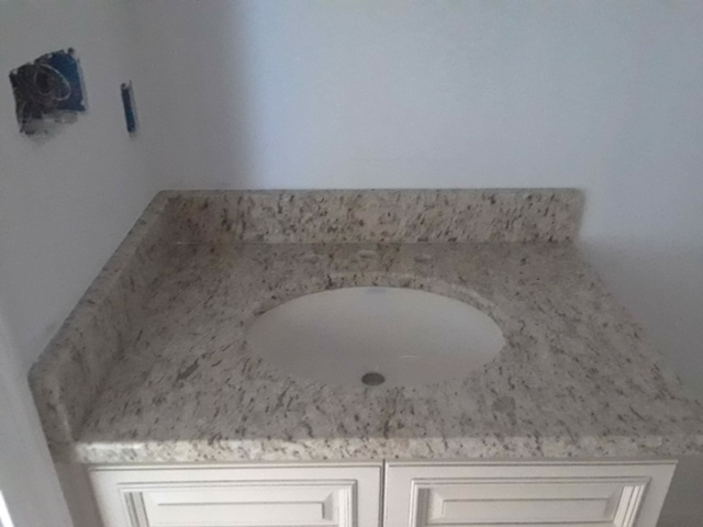 3cm Giallo Ornamental_Small-Vanity with Undermount Oval Sink_Liles