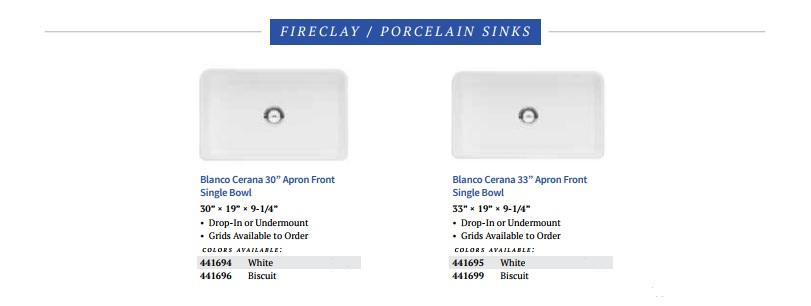 BLANCO Cerano Fireclay Porcelain Kitchen Sinks Intro