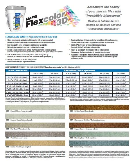 Mapei Flexcolor 3D Grout