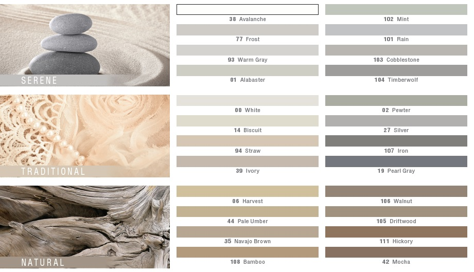 Mapei Grout Color Serene, Traditional, and Natural
