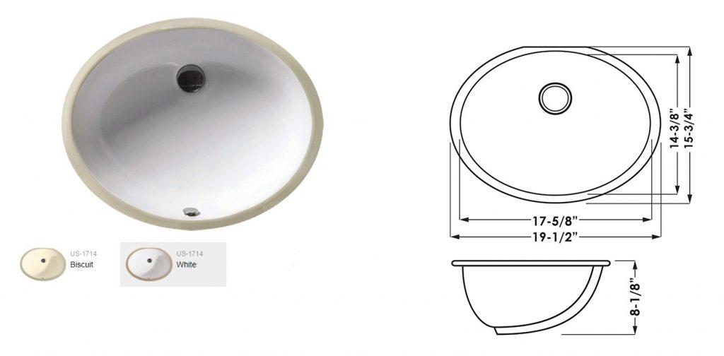 Undermount Porcelain Oval
