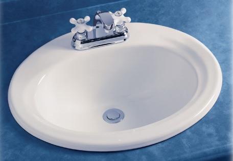 Vorten's Overmount White Oval Sink