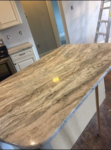 3cm Fantasy Brown Exotic Marble-Polished_Kitchen Island