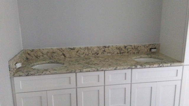 3cm Ice Blue Exotic Granite with Small Oval Undermount Sinks_Persilver MB